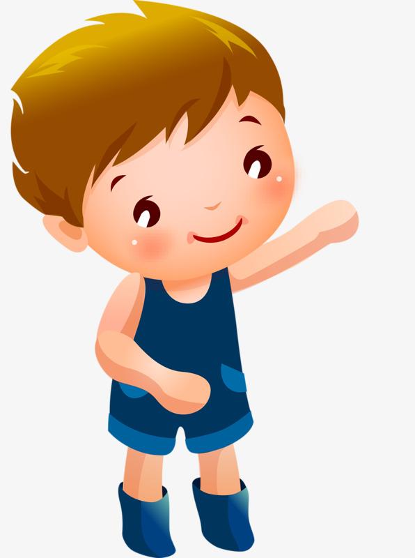 Kartun Anak Kecil Tangan Dicat Sedikit Anak Laki Laki Comel Imej Png