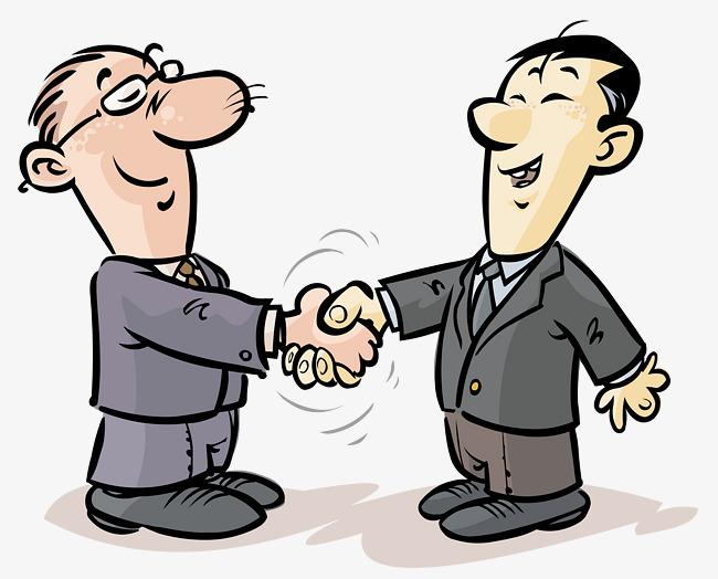 Kartun Perniagaan Orang Orang Berjabat Tangan Klip Gambar Perniagaan