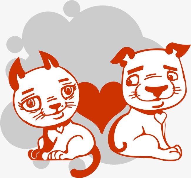 Kartun Kucing Dengan Kartun Anjing Gambar Kucing Anjing Cinta Imej