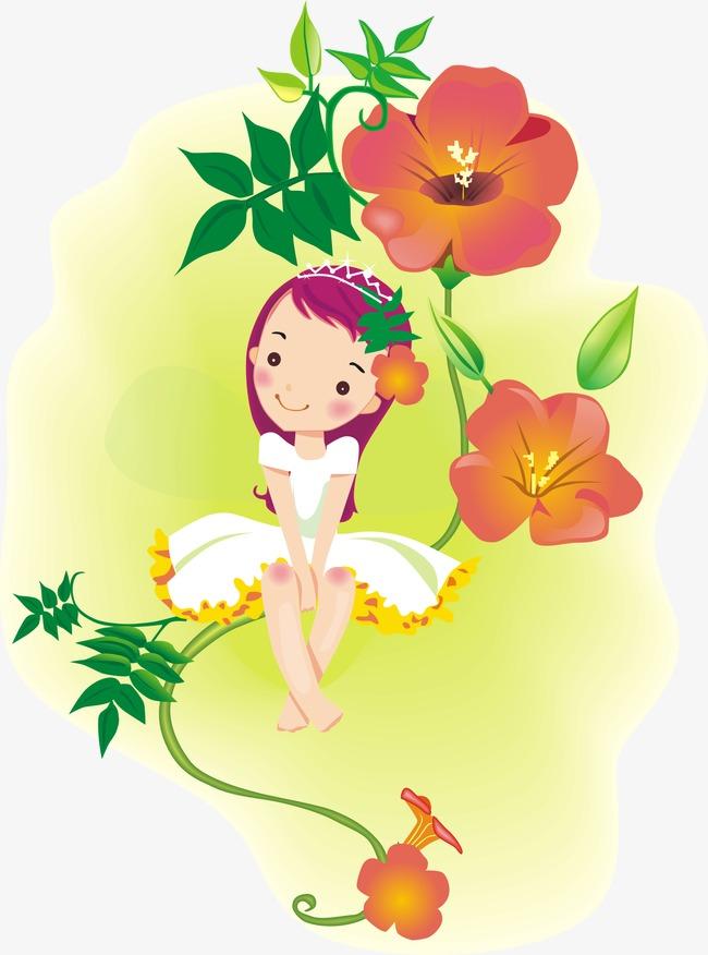 des personnages de dessins anim u00e9s cartoon fille jolies fleurs jolie fille image png pour le