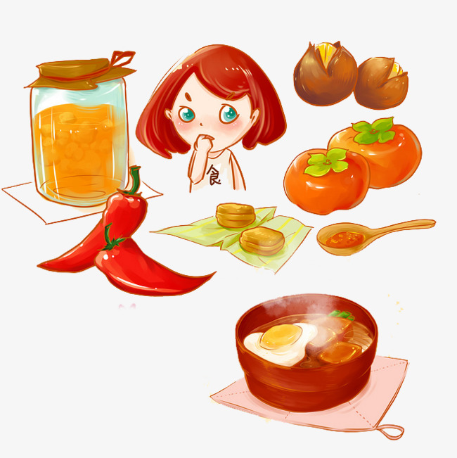 Cartoon Chef Cook Food Vegetable, Cartoon Clipart, Chef ...