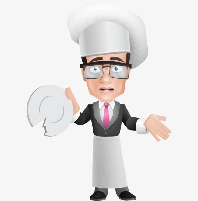 Le Dessin A Lunettes Cuisinier De Vaisselle Cassee Le Dessin Des