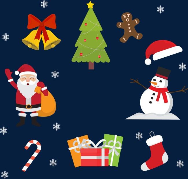 Kartun Krismas Hiasan Imej Gambar Krismas Kreatif Natal Krismas Png