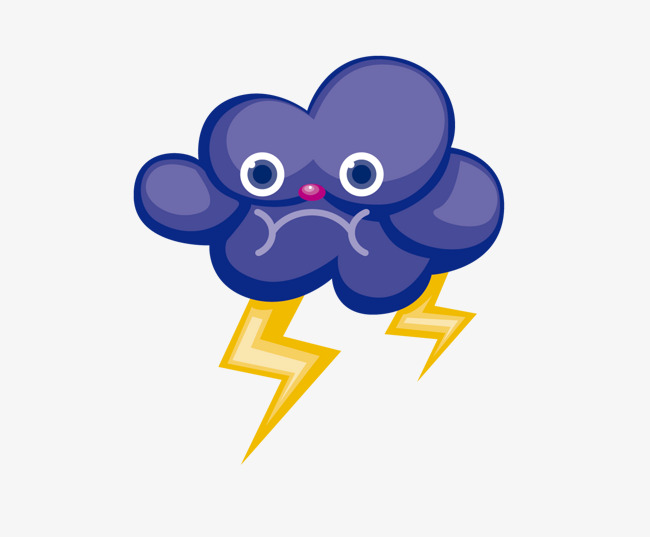 dessin de nuages noirs de la foudre le dessin de la m u00e9t u00e9o