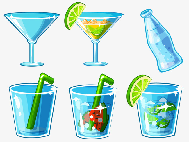cartoon cup glass wine glass juice cup png and psd file