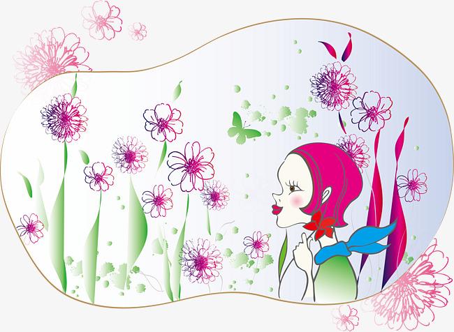 Dibujos Animados De Pintura Decorativa Patron De Fondo Flores Chica