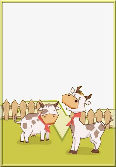 Dibujos Animados De Vallas Y Vacas Animal Vaca Lechera Vallas Imagen