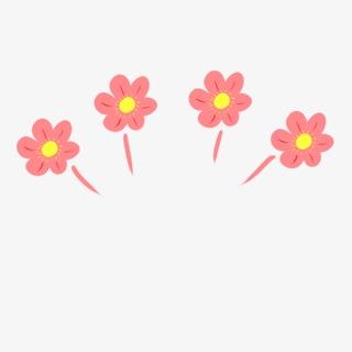 desenhos animados flutuam flores cute cartoon material de desenho