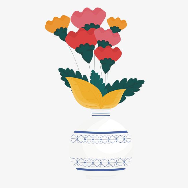 Cartoon Flower Arrangement Cartoon Clipart Flower Clipart Vase