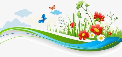 Dibujos Animados De Flores Frescas De Primavera Cartoon Fresco La