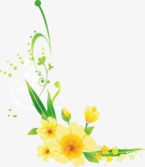 Dessin de fleurs frais printemps dessin frais le printemps png et vecteur pour t l chargement - Dessin fleurs printemps ...