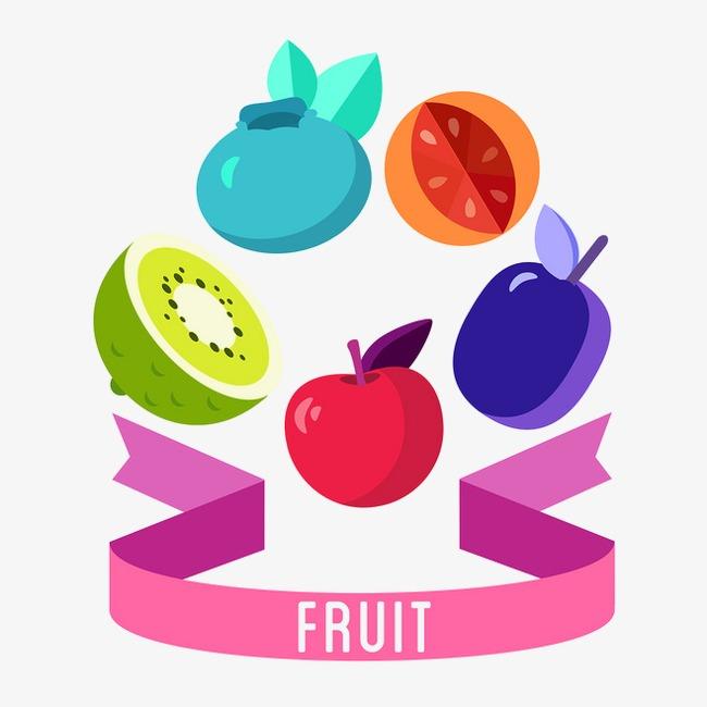 Dibujos De Frutas Color Frutas Cinta De Color Imagen Png Para