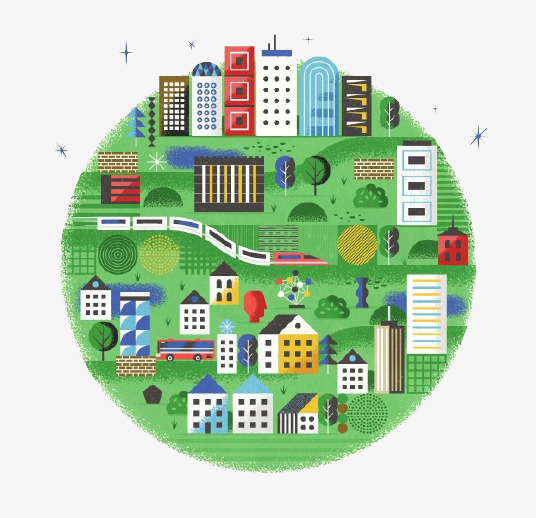 Kartun Taman Plot Ruang Tamu Penduduk Imej Dan Clip Png