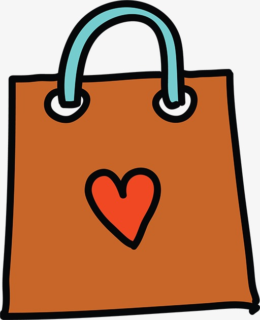 Cartoon Gift Bags Clipart Hand Painted Png Image And