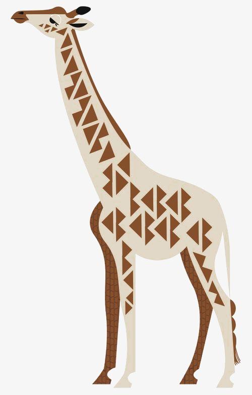 Dessin De La Girafe Girafe Animal Geometrique Image Png Pour Le