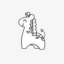 Cartoon Giraffen Cartoon Die Giraffe Die Schwarz Weiss Png Bild Und
