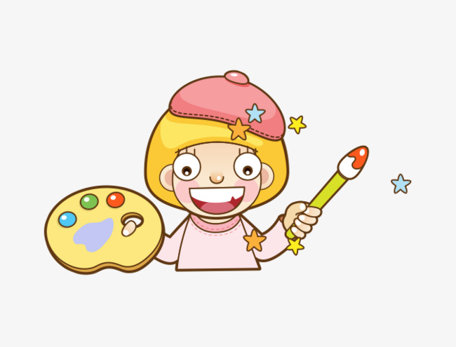 Cartoon Girl Paint Pen Pigment Plate Cartoon Girl Pigment Board