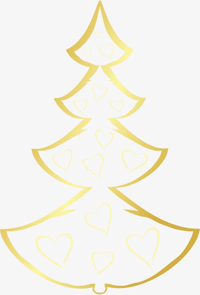Weihnachtsbaum Gold Cartoon Gold Der Weihnachtsbaum Png Bild Und