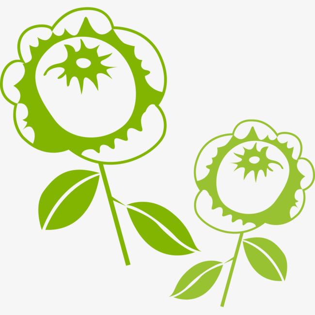 Dibujos De Flores Verdes Cartoon Verde Flores Verdes Imagen Png Para