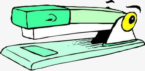Stapler Clip Art EPS Images. 2,963 stapler clipart vector ...  |Mean Cartoons Stapler