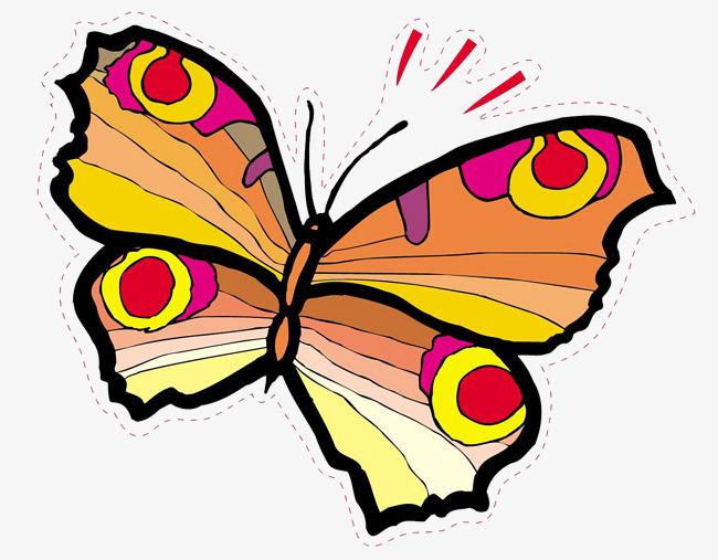 Dibujos Animados Mariposas Pintadas A Mano Mariposa Cartoon Pintado