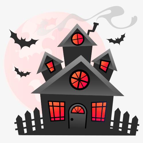 Le dessin de la maison hant e la maison hant e de dessin vectoriel thermique exquis de - Dessin de maison hantee ...