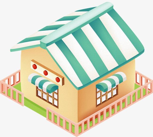 Casa De Dibujos Animados Elementos Cartoon Casas Color Imagen Png