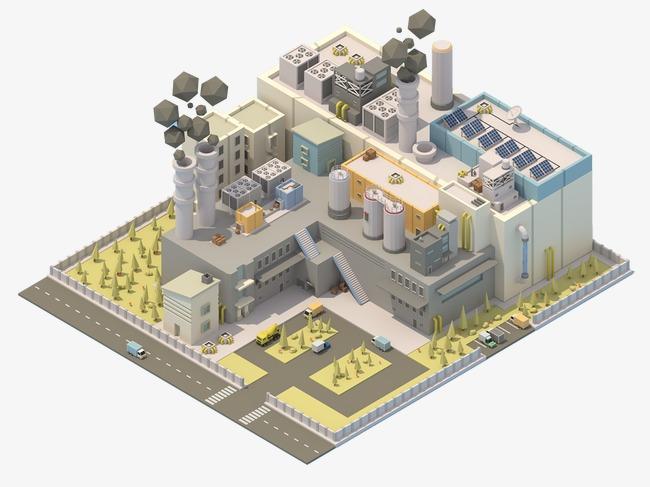 Kartun rumah bangunan Tuhan Sudut 45 Derajat Tiga dimensi Seni Bina 3D Imej dan Clip PNG