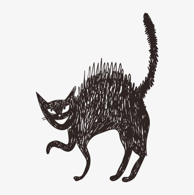 Dessin De Petit Chat Noir Dessin De Petit Chat Noir Mignon Carte De