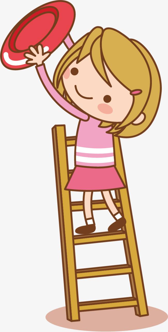 dessin de petite fille la petite fille  u00e0 monter sur une