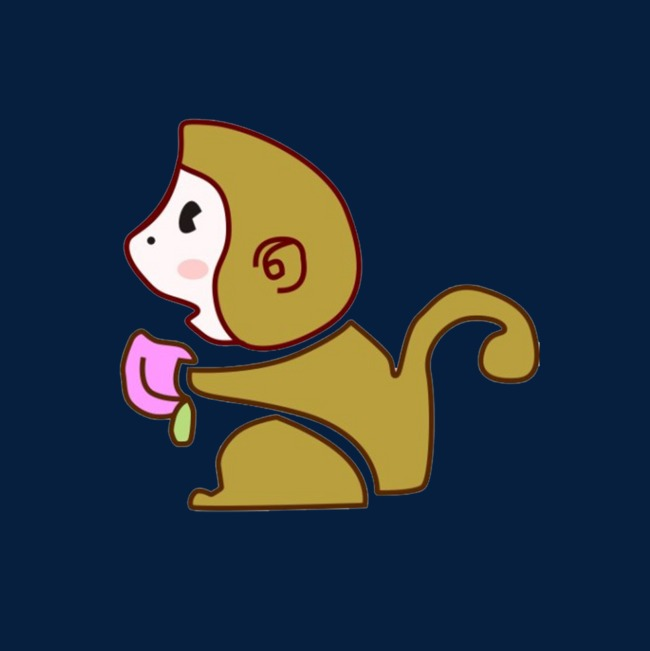 Le Dessin Anime Avec Un Petit Singe De Peche Prends Les Peches Le