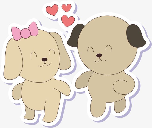 Vector De Dibujos Animados De Amor Animal De La Historieta Animal De