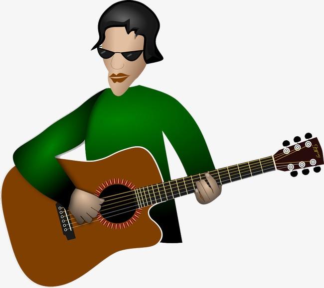 Kartun Gitar Man Kartun Gitar Man Bermain Gitar Kartun Imej Png Dan
