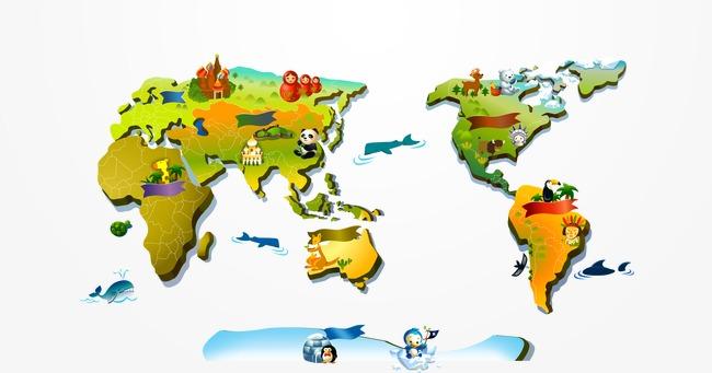 carte du monde de dessins anim u00e9s en ligne carte du monde