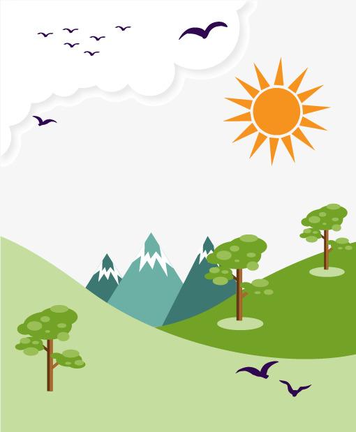 Kartun Gunung Klip Vektor Gambar Percuma Png Dan Vektor