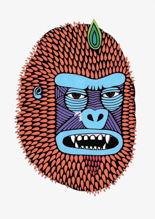 os desenhos animados de boca aberta a boca orangotango o macaco png