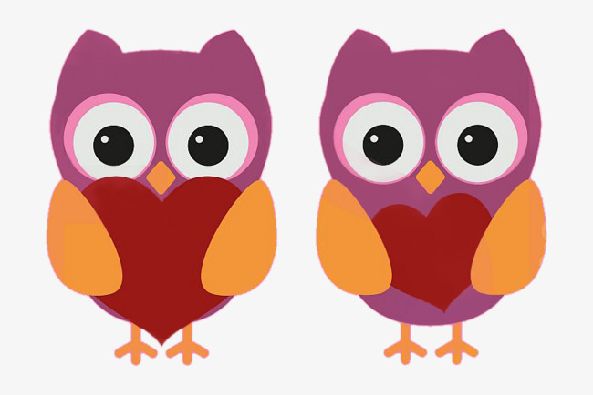 Kartun Burung Hantu Cinta Haiwan Kartun Comel Fail Png Dan Psd Untuk