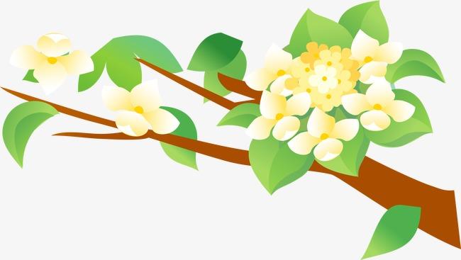 Kartun Tangan Dicat Bunga Pohon Bunga Kartun Tangan Bunga Dicat