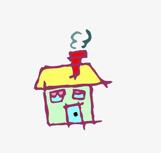 La Maison De Dessin De Ma Main Maison Cheminee Maison Simple Image