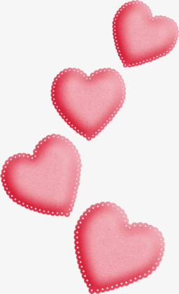 Le Dessin Anime Main Coeur Rose Decoratif Flottant Rose Dessin De