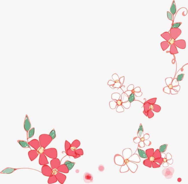 Cartoon Pintado Flores Rojas Cartoon Pintado A Mano Rojo Png Y