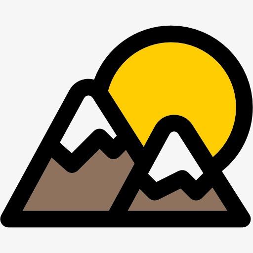 Kartun Gunung Kartun Gunung Tangan Dicat Puncak Cute Puncak Fail Png