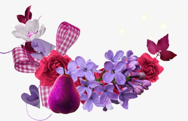 Cartoon Violet Roses A Petite Fleur Decoratif Dessin De Peints A La