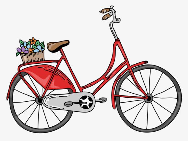 Rouge de bicyclette de dessin bicyclette v hicule deux - Dessin bicyclette ...