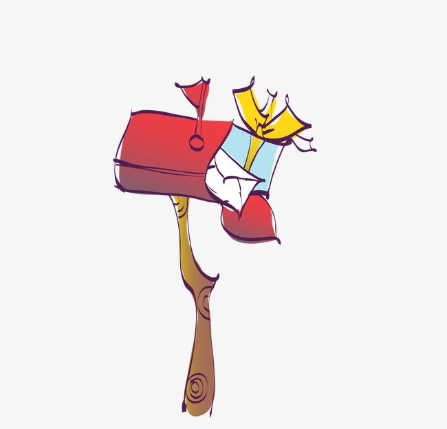 dessin de bo u00eete aux lettres rouge bo u00eete aux lettres
