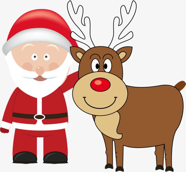 Desenhos Animados De Papai Noel Cartoon Papai Noel Elk PNG