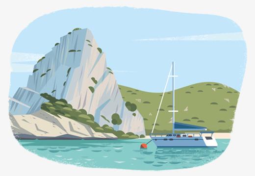 desenhos de cruzeiros marítimos mar a ilha a praia png imagem para