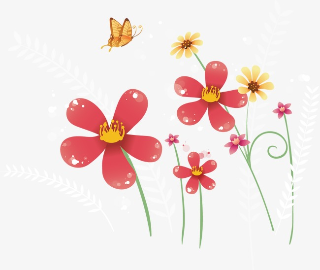 Cartoon Spring Flowers Flower Vector Png And