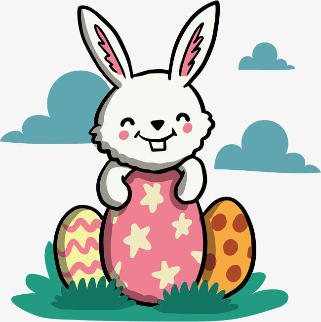 Conejo De Dibujos Animados Conejo Blanco Cartoon La Primavera Png Y