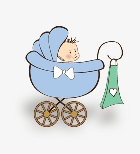 carrinho de bebê dos desenhos animados carrinho de bebê dos desenhos